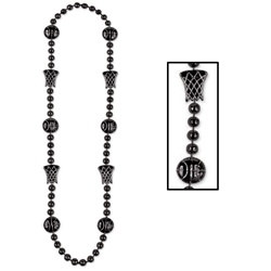 Black Basketball Beads (1/pkg)