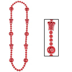 Red Basketball Beads (1/pkg)