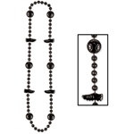 Black Soccer Beads (1/pkg)