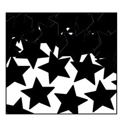 Black Fanci-Fetti Stars (1 ounce/pkg)