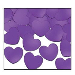Purple Fanci-Fetti Hearts (1oz/pkg)
