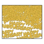 Gold Happy Anniversary Fanci-Fetti