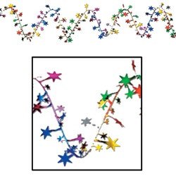 Multi-Color Gleam N Flex Star Garland