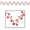 Red Gleam N Flex Heart Garland