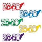 These budget-friendly  2020 glasses are the perfect for New Years & Graduation parties!.   Printed in a color assortment of red, blue, yellow, purple, & green. Important Note: Sold individually, you will receive ONE pair in a color of our choosing.