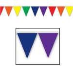 Rainbow Indoor/Outdoor Pennant Banner, 12 ft