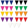 Indoor-Outdoor Pennant Banners, 12 ft (Select Color)
