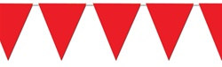 Red Indoor/Outdoor Pennant Banner, 12 ft