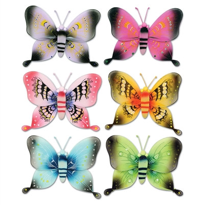 Assorted 3-D Nylon Butterflies (17½ inch)