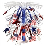 Red, White, and Blue Flag Cascade Centerpiece