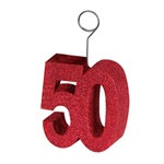 Glittered 50th Photo/Balloon Holder