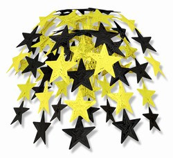 Black and Gold Star Cascade