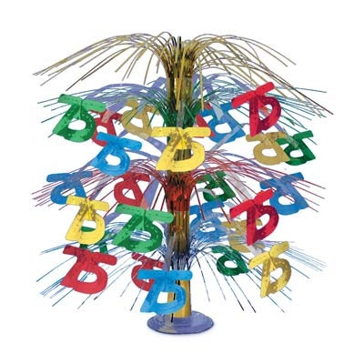 75th Cascade Centerpiece, Multi-color, 18 Inches  (1/Pkg)