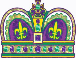 Prismatic Mardi Gras Crown Cutout