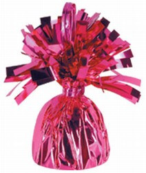 Cerise Metallic Wrapped Balloon Weight