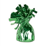 Green Metallic Wrapped Balloon Weight, 6 ounces