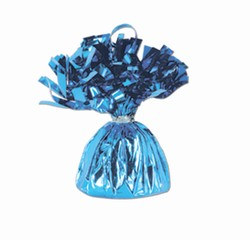 Light Blue Metallic Wrapped Balloon Weight, 6 ounces