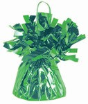 Light Green Metallic Wrapped Balloon Weight, 6 ounces