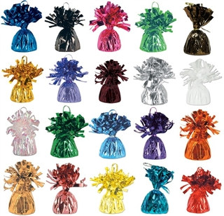 Metallic Wrapped Balloon Weight (Choose Color)