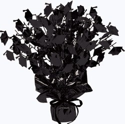 Black Graduate Cap Gleam N Burst Centerpiece