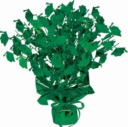 Green Graduate Cap Gleam N Burst Centerpiece