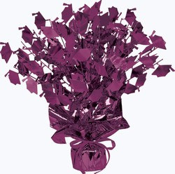 Purple Graduate Cap Gleam N Burst Centerpiece