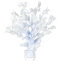 White Graduate Cap Gleam N Burst Centerpiece