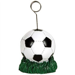 Soccer Ball Polystone Photo/Balloon Holder