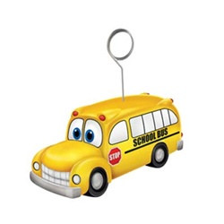 School Bus Photo/Balloon Holder