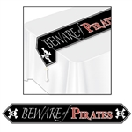 Beware Of Pirates Table Runner