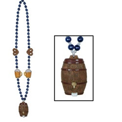 Oktoberfest Beads with Beer Keg Medallion