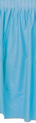Plastic Table Skirting - Light Blue