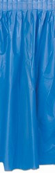Plastic Table Skirting - Med Blue