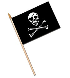 Rayon Pirate Flag (4 in x 6 in)
