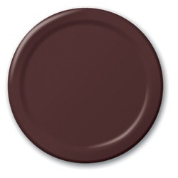 Chocolate Brown Lunch Plates (24/pkg)