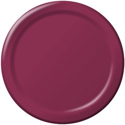 Burgundy Lunch Plates (24/pkg)