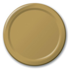 Gold Lunch Plates (24/pkg)