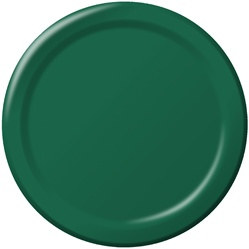 Hunter Green Lunch Plates (24/pkg)