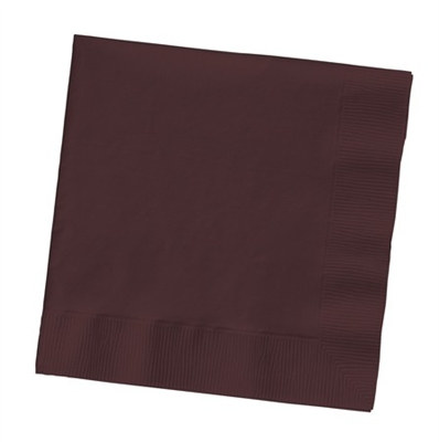 Chocolate Brown Beverage Napkins (50/pkg)