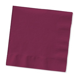 Burgundy Beverage Napkins (50/pkg)