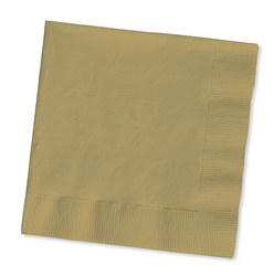 Gold Beverage Napkins (50/pkg)
