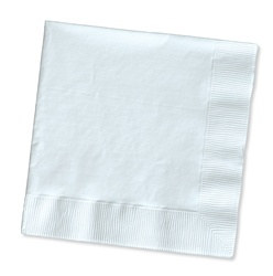 White Beverage Napkins (50/pkg)