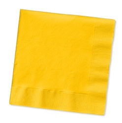 Yellow Beverage Napkins (50/pkg)