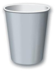 Silver Hot/Cold Cups (24/pkg)