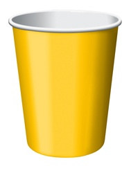 Yellow Hot/Cold Cups (24/pkg)