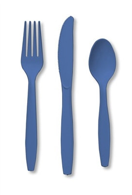 Blue Assorted Cutlery (24/pkg)