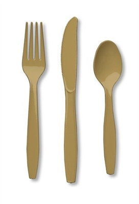 Gold Assorted Cutlery (24/pkg)