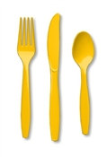 Yellow Assorted Cutlery (24/pkg)