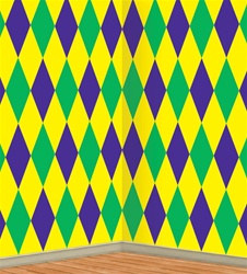 Mardi Gras Harlequin Backdrop