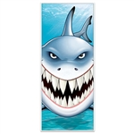 Take your under the sea party to a new level with this Shark Door Cover. The door cover measures 30 inches wide by six feet tall and is made of an all-weather material. Rain or shine this door cover will be fine! Comes one per package.
